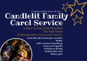 Candlelit Family Carol Service @ Huntingdonshire Community Church