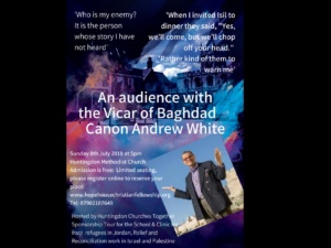 An audience with the Vicar of Baghdad Canon Andrew White @ Huntingdon Methodist Church